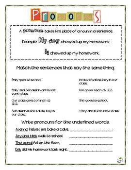 Pronoun Playground
