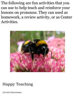 Pronouns:  Activities with Pronouns