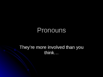 Pronoun Power Point Lecture