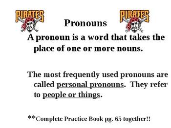 Pronoun PowerPoint (Pittsburgh Pirates Theme)