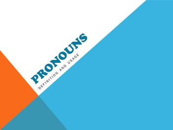 Pronoun Powerpoint with Practice Exercises