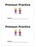 Pronoun Practice Book