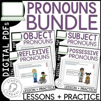 Pronoun Practice Bundle: Possessive, Subject, Reflexive & Object Pronouns