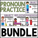 Pronoun Practice Bundle: Possessive, Subject, Reflexive an