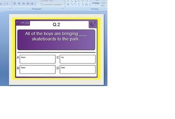 Pronoun Practice Exercise for Powerpoint