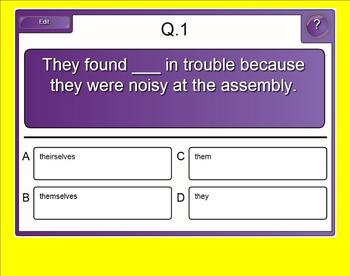 Pronoun Practice Exercise for Smartboard