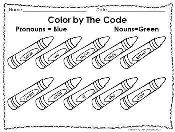 Pronoun Practice Freebie