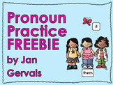 Pronoun Practice Freebie