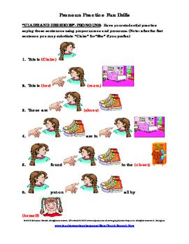 Pronoun Practice Fun Drills