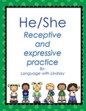 Pronoun Practice: He/She- Receptive and Expressive