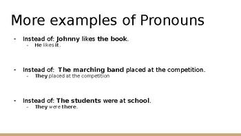 Pronoun Presentation