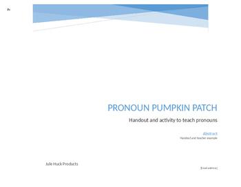 Pronoun Pumpkin Patch