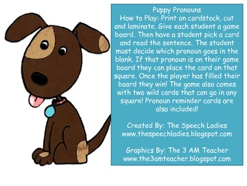 Pronoun Pups