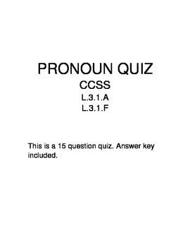 Pronoun Quiz