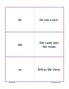 Pronoun Game - Quiz and Trade {Differentiated}