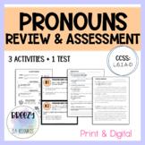 Pronoun Review & Assessment - Print & Digital