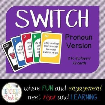 Pronoun SWITCH ELA Card Game