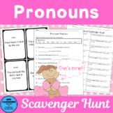 Pronoun Scavenger Hunt plus posters