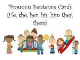 Pronoun Sentence Card Freebie