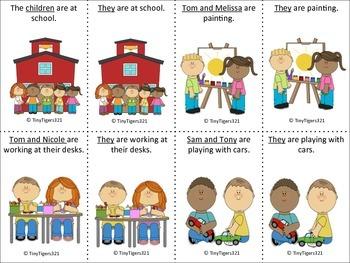 Pronoun Sentence Cards