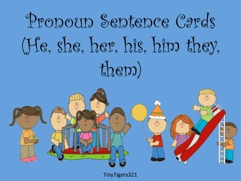 Pronoun Sentence Cards