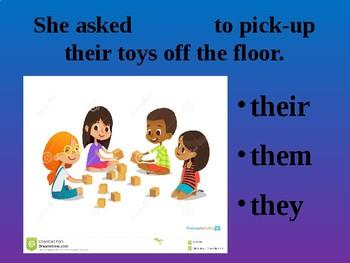 Pronoun Sentence Practice PowerPoint