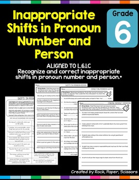 Pronoun Shifts L.6.1.C