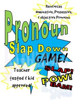 Pronoun Slap Down Grammar Game