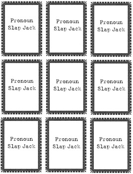 Pronoun Slap Jack