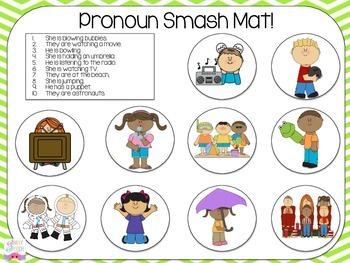 Pronoun Smash Mats