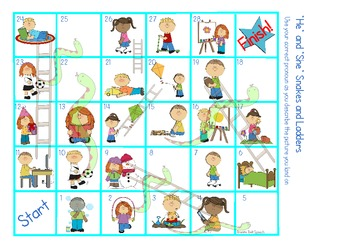 Pronoun Snakes and Ladders - She, He & They