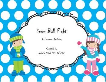 Pronoun Snowball Fight: A Language Activity