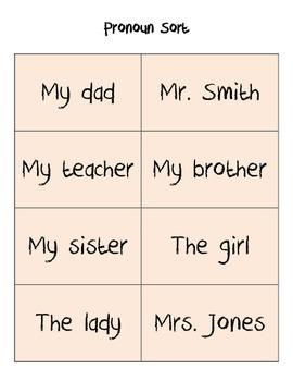 Sort - Pronouns