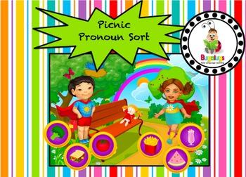 Pronoun Sort at a Picnic Game