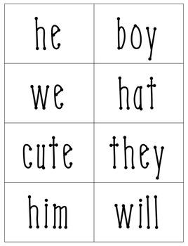 Pronoun Sort for First Grade