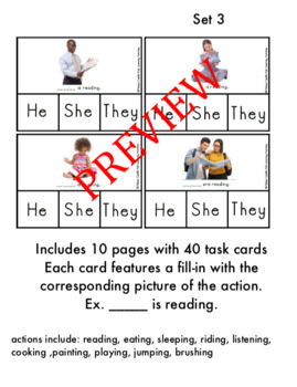 Pronoun Sorting Board (He/She/They) + Task cards of real pictures of people