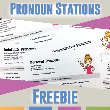 Pronoun Stations: Types of Pronouns FREEBIE