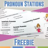 Pronoun Stations: Types of Pronouns FREEBIE