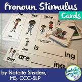 Pronoun Stimulus Cards for Speech Language Therapy