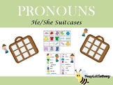 Pronoun Suitcases
