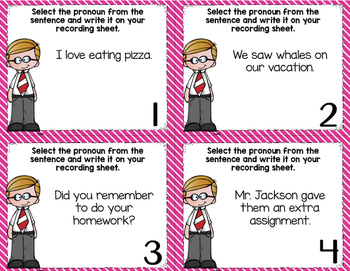 Pronoun Task Cards (2 Sets)