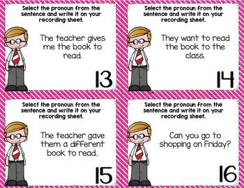 Pronoun Task Cards (2 Sets)
