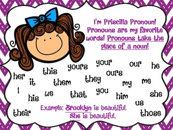 Pronoun Task Cards