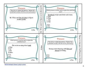 Pronoun Task Cards CC.L.1.a