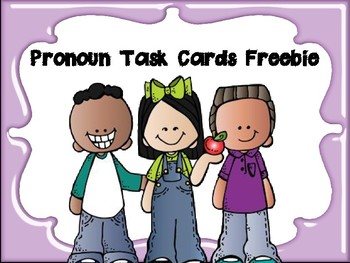Pronoun Task Cards & Showdown (Cooperative Learning Activity) FREEBIE
