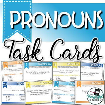 Pronouns Task Cards for Secondary ELA (80 Task Cards)
