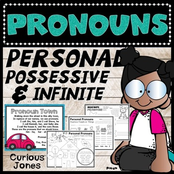 Pronouns: Personal, Possessive, and Indefinite Activities, Worksheets, and Poems