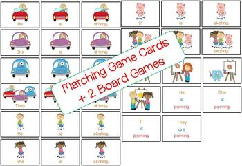 Construct 3 words Sentences eg. He is driving (Flashcards, Games, Cut and paste)