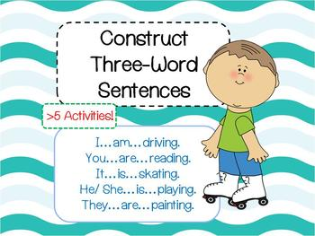 Construct 3 words Sentences eg. He is driving (Flashcards,