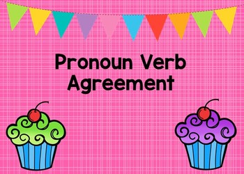 Pronoun Verb Agreement Boom Cards